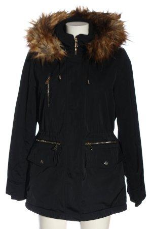 Zara Woman Kapuzenjacke schwarz Casual-Look