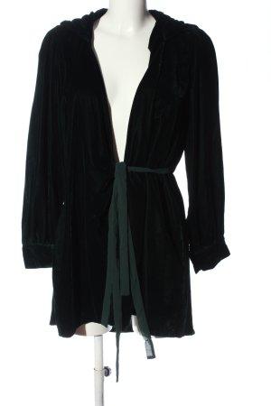 Zara Woman Vestido con capucha negro elegante