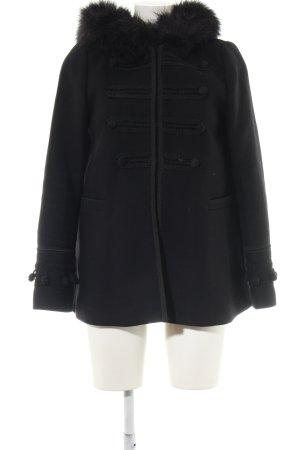 Zara Woman Manteau à capuche noir style décontracté