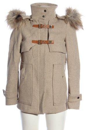 Zara Woman Kapuzenmantel creme Casual-Look