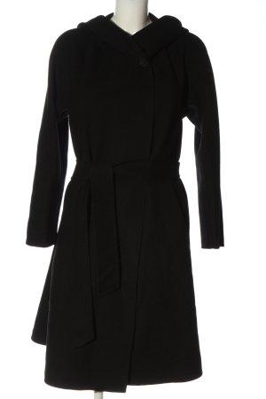 Zara Woman Cappotto con cappuccio nero stile casual