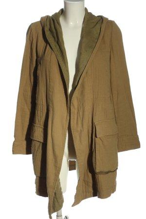 Zara Woman Abrigo con capucha marrón look casual