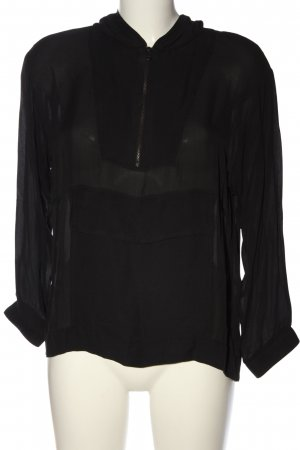 Zara Woman Schlupf-Bluse schwarz Casual-Look