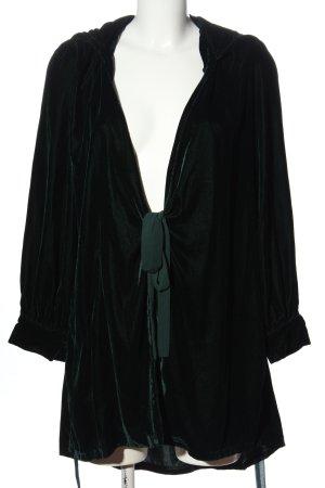 Zara Woman Kapuzensweatshirt grün Casual-Look