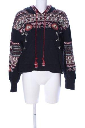 Zara Woman Kapuzensweatshirt Allover-Druck Casual-Look