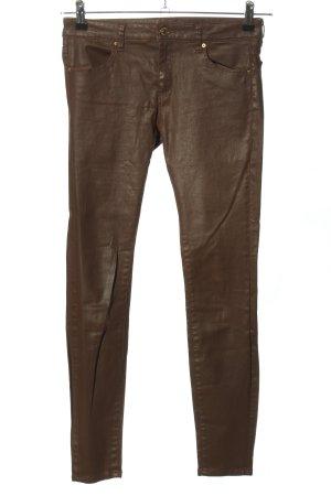 Zara Woman Pantalón de pinza alto marrón look casual