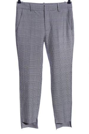 Zara Woman Peg Top Trousers light grey-black check pattern business style