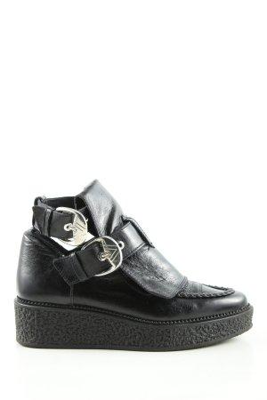 Zara Woman Keil-Stiefeletten schwarz Casual-Look