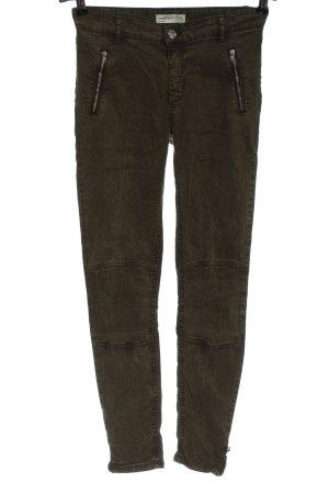 Zara Woman Kaki broek khaki casual uitstraling