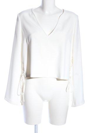 Zara Woman Kimono-Bluse wollweiß Elegant