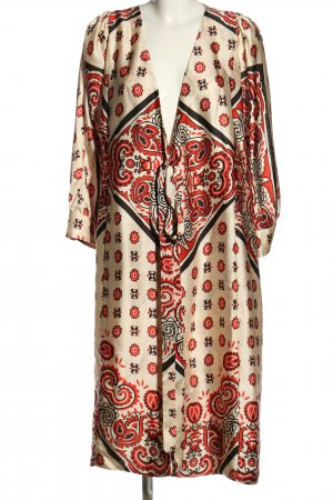 Zara Woman Kimono estampado repetido sobre toda la superficie look casual