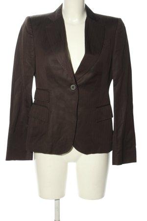 Zara Woman Klassischer Blazer braun Streifenmuster Business-Look