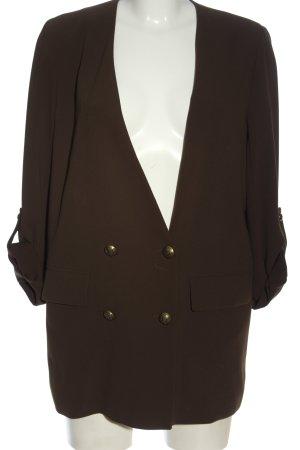 Zara Woman Klassischer Blazer braun Casual-Look