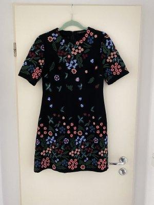 Zara Woman Kleid mit Blumenstickerei S
