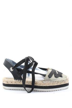 Zara Woman Wygodne sandały jasnoszary-czarny W stylu casual
