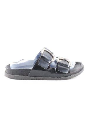Zara Woman Komfort-Sandalen schwarz Casual-Look