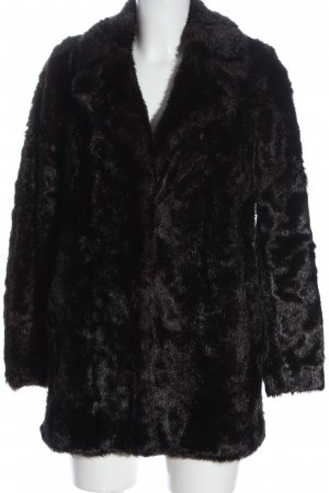 Zara Woman Abrigo de piel sintética marrón look casual