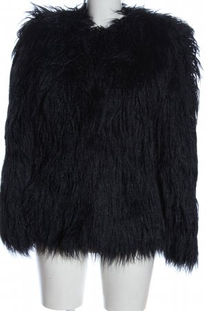 Zara Woman Fake Fur Jacket blue elegant