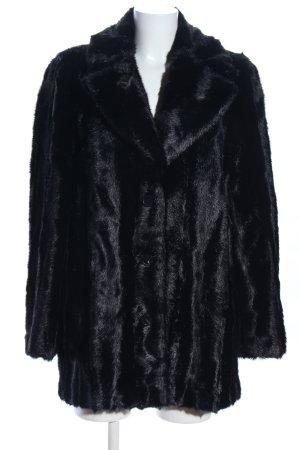 Zara Woman Fake Fur Jacket black business style