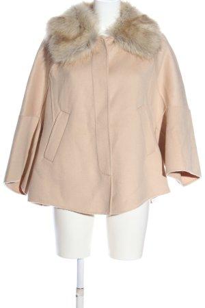 Zara Woman Kurtka ze sztucznym futrem kremowy W stylu casual