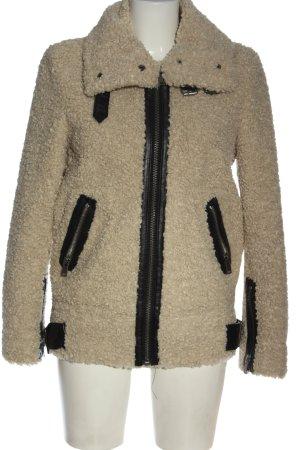 Zara Woman Kunstfelljacke wollweiß Casual-Look