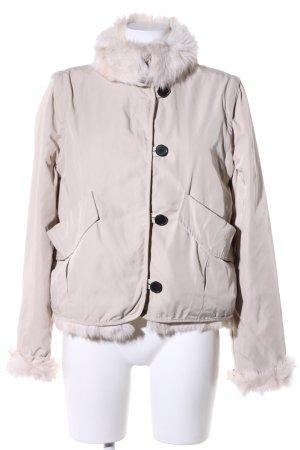 Zara Woman Giacca in eco pelliccia bianco sporco stile casual