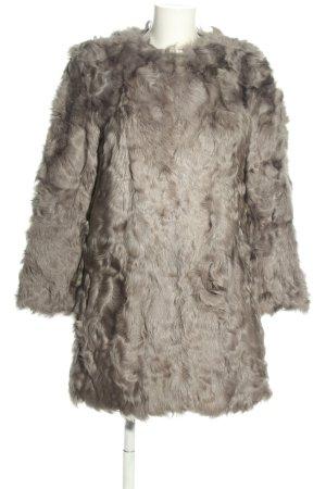 Zara Woman Bontjas lichtgrijs zakelijke stijl