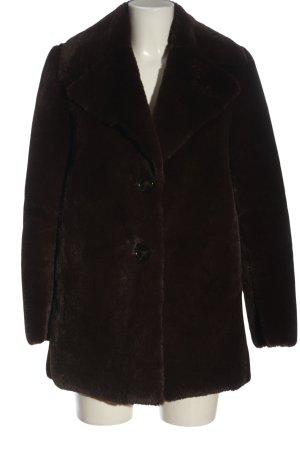 Zara Woman Manteau en fausse fourrure brun élégant
