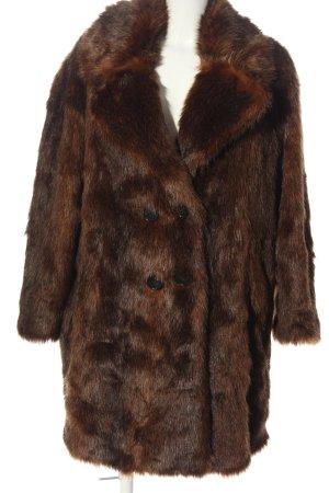 Zara Woman Fake Fur Coat brown elegant