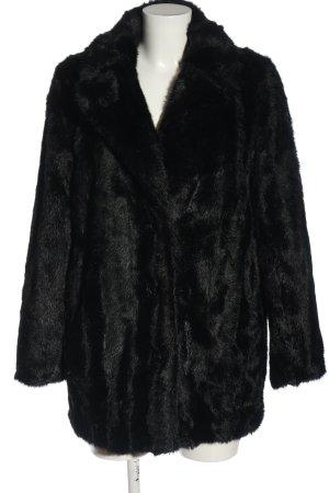 Zara Woman Manteau en fausse fourrure noir style décontracté