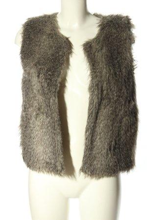 Zara Woman Kunstfellweste braun meliert Casual-Look