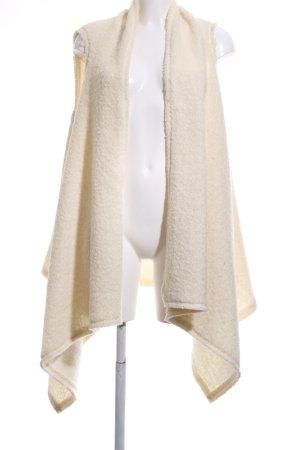 Zara Woman Kunstfellweste creme Casual-Look