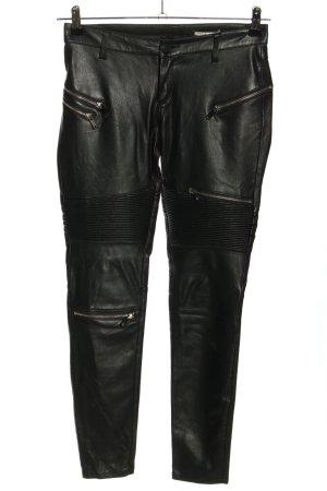 Zara Woman Kunstlederhose schwarz Casual-Look