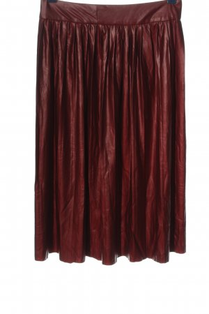 Zara Woman Kunstlederrock rot Casual-Look