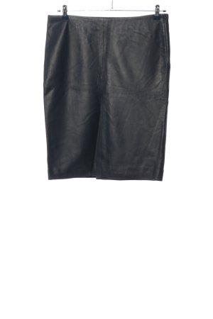 Zara Woman Rok van imitatieleder zwart zakelijke stijl