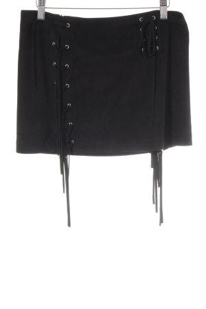 Zara Woman rock schwarz Metallelemente