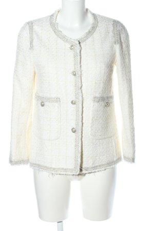 Zara Woman Kurz-Blazer wollweiß meliert Casual-Look