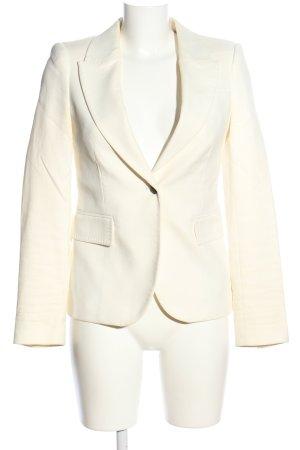 Zara Woman Kurz-Blazer wollweiß-braun Business-Look