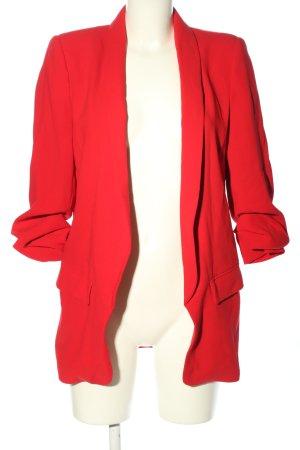 Zara Woman Kurz-Blazer rot Casual-Look