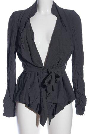 Zara Woman Kurz-Blazer blau Casual-Look