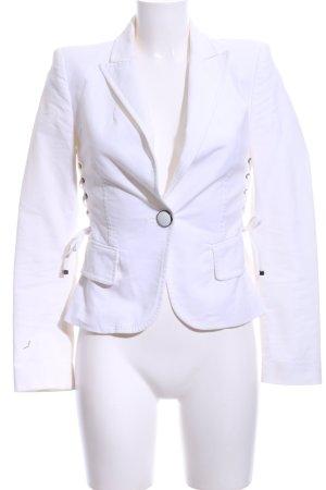 Zara Woman Kurz-Blazer weiß Business-Look