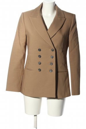 Zara Woman Kurz-Blazer braun Business-Look