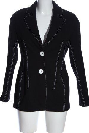 Zara Woman Kurz-Blazer schwarz-weiß Streifenmuster Business-Look