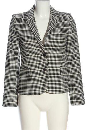 Zara Woman Kurz-Blazer weiß-schwarz Allover-Druck Casual-Look