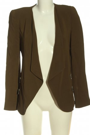 Zara Woman Kurz-Blazer braun Casual-Look
