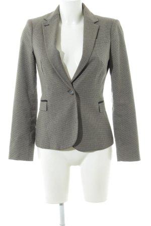 Zara Woman Kurz-Blazer hellgrau Karomuster klassischer Stil