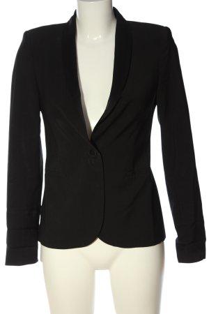 Zara Woman Kurz-Blazer schwarz Casual-Look