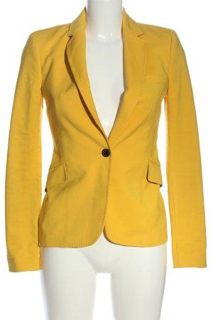 Zara Woman Kurz-Blazer blassgelb Elegant