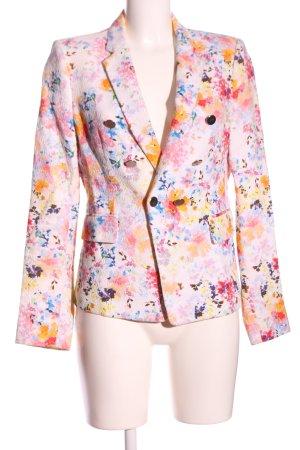 Zara Woman Kurz-Blazer Allover-Druck Business-Look