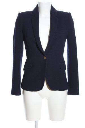 Zara Woman Kurz-Blazer blau Business-Look